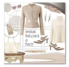 """""""Neutrals that Pack a Punch"""" by pwhiteaurora ❤ liked on Polyvore featuring NOVICA, Burberry, LifeStride, Tie-Ups, Jil Sander Navy, Miss Selfridge, Phase Eight, Jessica McClintock, Betsey Johnson and Kate Spade"""