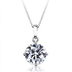 3.8CT Round Solitaire Cut Russian Lab Diamond 14K White Gold Birthday – Joy Of London Jewels