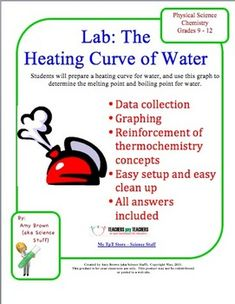 Purpose:  To prepare a heating curve for water, and use this graph to determine the melting point and boiling point for water.