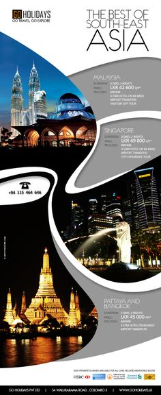 Malaysia, Singapore and Thailand Tour Package