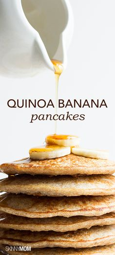 Banana Pancakes Check out this great quinoa banana pancake recipe!Check out this great quinoa banana pancake recipe! Banana Pancakes, Quinoa Pancakes, Buckwheat Pancakes, Fluffy Pancakes, Potato Pancakes, Brunch Recipes, Breakfast Recipes, Pancake Recipes, Dinner Recipes