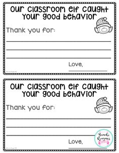 Reward students with this certificate for good behavior. Have you classroom elf be on the lookout to reward!