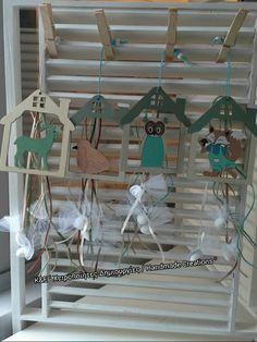 Ξύλινες μπομπονιέρες βάπτισης Handmade, Hand Made, Handarbeit