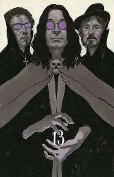 "Edward Kinsella Illustration: Black Sabbath ""13"""