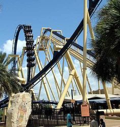 Montu is an inverted roller coaster at Busch Gardens Tampa Bay in Tampa, Florida. When the ride opened on May 16, 1996, it was the world's tallest and fastest inverted roller coaster. The ride stands at 150-foot-tall (46 m) and reaches 60 miles per hour (97 km/h).