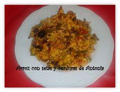 cocina_sos_antonia: ARROZ CON SETAS Y PIMIENTOS