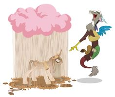 Discord and Princess Celestia