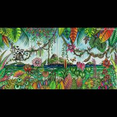 "263 Likes, 13 Comments - Magdalena Jakubiec (@maggie_coloring) on Instagram: ""Magical Jungle #johannabasford #magicaljungle #instacoloring #coloringmasterpiece…"""