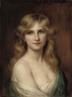 """Young Beauty,"" by Albert Lynch (1851-1912,Peruvian) Albert did study art in France"