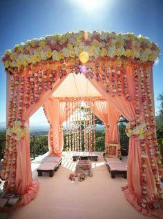 Wedding Reception Stage Decorations Draping Ideas For 2019 Wedding Ceremony Ideas, Wedding Mandap, Desi Wedding, Wedding Stage, Reception Ideas, Wedding Reception, Wedding Coral, Wedding Canopy, Wedding Ceremonies