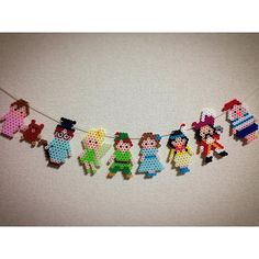 Peter Pan garland perler beads by ringo_0122