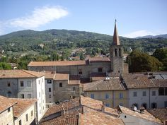Sansepolcro roofs with church steeple - Duomo di Sansepolcro - Wikipedia