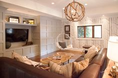Lucy and Company: Rustic chic living room with Cole and Sons Woods Wallpaper lining the walls. Incredible ...