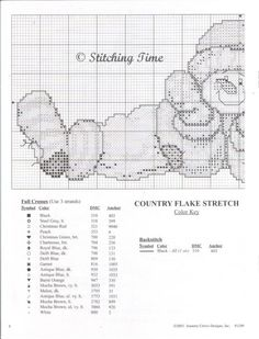 Cross-stitch Country Flake Stretch, part 1...  with the color chart...   Gallery.ru / Фото #2 - Country Flakes - Labadee