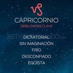 DEBILIDADES CLAVE DE LOS SIGNOS: CAPRICORNIO