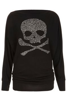 **Studded Skull Top by Wal G - New In This Week - New In - Topshop
