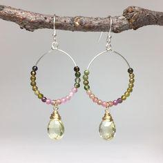 Tourmaline Jewelry, Hoop Earrings, Beads, Instagram, People, O Beads, Beading, Pearls, Bead