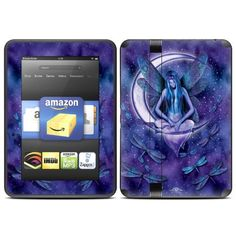 """Moon Fairy Design Protective Decal Skin Sticker for Amazon Kindle Fire HD 7 inch eBook Reader by MyGift. $19.99. """"Add both style and protection to your Amazon Kindle Fire HD 7 inch eBook Reader by keeping it covered in this stylish and practical skin decal sticker. The digitally printed exterior takes care of the style part of the equation with a vivid, art-quality design that shows off your own unique sense of style. Meanwhile, the durable combination of cast v..."""