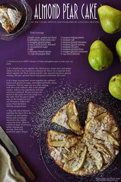 Almond Pear Cake.