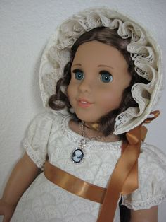 18 inch Doll Clothes American Girl 1800s Ivory by nayasdesigns, $55.00