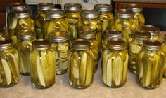 Kosher Dill Pickles canning recipe; add horseradish, fresh or prepared, for crispness and 'bite'