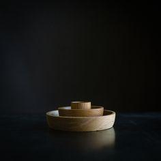 "collin garrity - OOO stacking bowls : oak / maple . 2"" 4"" 6"""