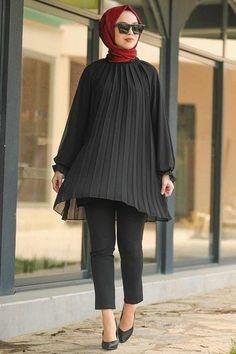 Muslim Fashion, Modest Fashion, Hijab Fashion, Girl Fashion, Fashion Outfits, Black Hijab, Hijab Style Dress, Muslim Dress, Modest Wear
