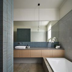Muted tones, tiles