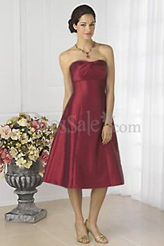 Classic and Elegant Shimmer Satin Bridesmaid Dresses with Strapless Neckline and Trumpet Skirt
