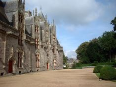 Front facade of Josselin Chateau, Brittany France