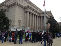Long line at the National Archives as visitors wait to see the Emancipation Proclamation by archivesnews, via Flickr