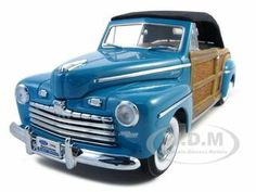 1946 Ford Sportsman Woody Green Diecast Car Model 1/18 With Leather And Wood Die Cast Car Model By Yat Ming