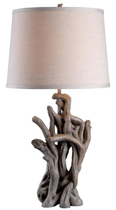 Kenroy Home 32266DW Cast Away Table Lamp, Driftwood Finish - Table Lamps For Living Room - Amazon.com