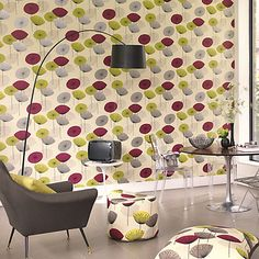 Buy Sanderson Dandelion Clocks Wallpaper, 210240, Gold/Mauve Online at johnlewis.com
