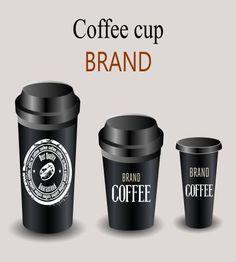 تصميم اكواب قهوة هوية جميل ورائع ملف مفتوح