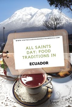 While you visit the country during the day of the Dead or all saints day (Spanish: 'día de los difuntos'), enjoy some food traditions in Ecuador South America, Latin America, Spanish Speaking Countries, American Desserts, All Saints Day, Different Fruits, Just Dream, Galapagos Islands, American Country