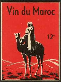 All the cute vintage labels. vin maroc by pilllpat (agence eureka), via Flickr