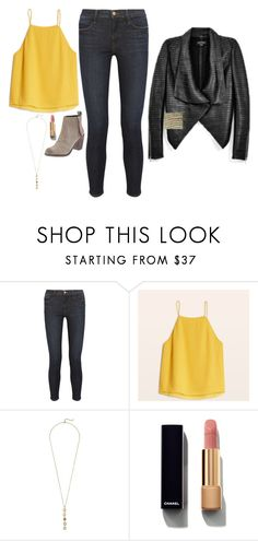 """Iris West Inspired Outfit"" by daniellakresovic ❤ liked on Polyvore featuring Frame Denim, Dolce Vita, Cole Haan and Chanel"