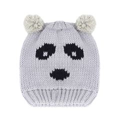 Grey Panda Hat - Winter Warmers - up to 60% off