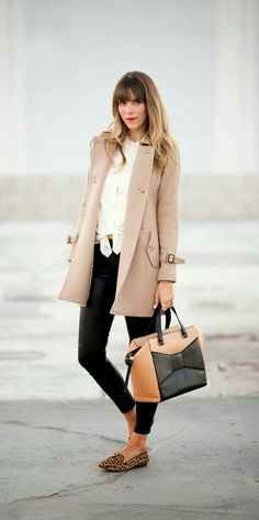 Inspiring fall fashion look with trench coat | HIGH RISE FASHION