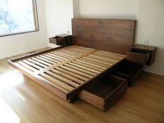 Кровать деревянная с ящиками Филимон - двуспальные кровати - мебель базарчик