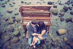 amazing piano/beach photo shoot by Clayton Austin