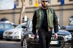 #mIlan #streetstyle #men #fashionweek #bomber #beard #theurbanspotter