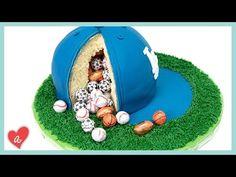 How to Make a Baseball Cap Pinata Cake featuring Jenn Johns of Cookies Cupcakes and Cardio - YouTube