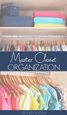 Closet Organizers 493355334184396411 - Learn tips, tricks and pro methods for organizing your master closet like a BOSS in the the Organize and Refine Challenge Source by heytherehome Best Closet Organization, Closet Hacks, Home Office Organization, Organizing Your Home, Organizing Ideas, Closet Ideas, Organizing Solutions, Decluttering Ideas, Closet Storage