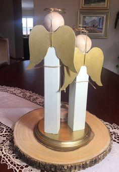 Ángeles centro pieza bautismo comunión Angel madera