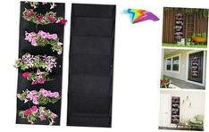 Viagrow 6-Plant Site Fabric Vertical Wall Garden Flowers Herbs Durable (2-Pack) for sale online | eBay