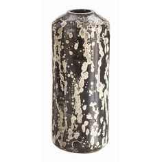 marbled mercury cylinder glass vase