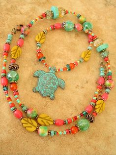 Boho Necklace Tribal Jewelry Southwest Jewelry by BohoStyleMe
