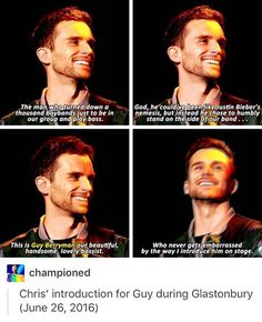 SO CUTE and he said something similar to this at our Minneapolis show! Coldplay Band, Coldplay Music, Coldplay Concert, Guy Berryman, Music Is Life, My Music, Beautiful World Lyrics, Phil Harvey, Dibujo